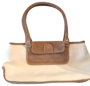 Adrienne Vittadini Satchel in Cream & light brown