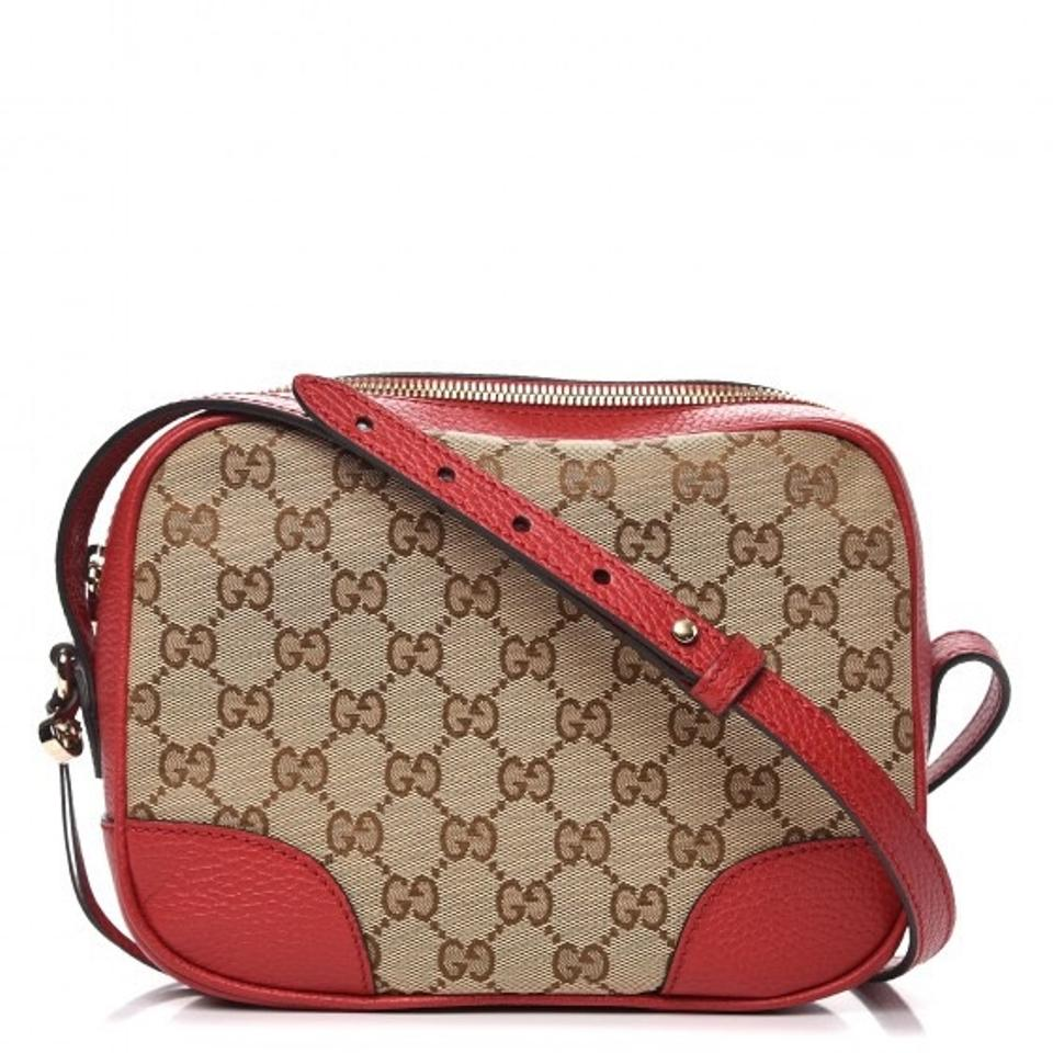 d292f8ec4d Gucci Disco Bree Monogram Gg Shoulder Brown Red Cross Body Bag - Tradesy