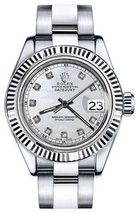 Rolex Men's Rolex 36mm Datejust White MOP Mother of Pearl Diamond Dial