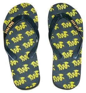 Jazz Fest Black & Yellow Sandals