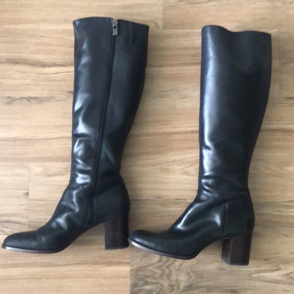 177fd87b5ca2 Black Tall Hits Knee Worn Once Boots Booties. Size  US 9 Regular (M ...