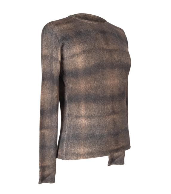 Item - Cashmere and Silk Print Muted Colou Multicolor Sweater
