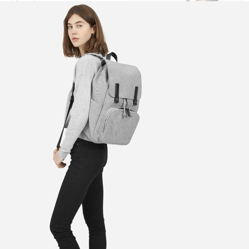 Everlane Modern Snap Cotton and Leather Backpack - Tradesy c29ada850b8d6