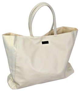 Jimmy Choo Big Student Pack Multi Pocket Patches Tote in White