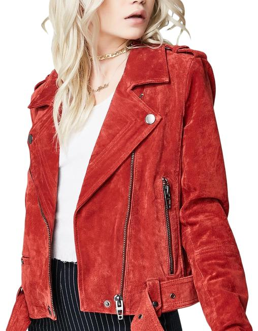 Item - Red My Mind Suede Jacket Size 4 (S)