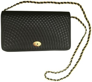 Bally Leather Quilted Clutch Cross Body Bag