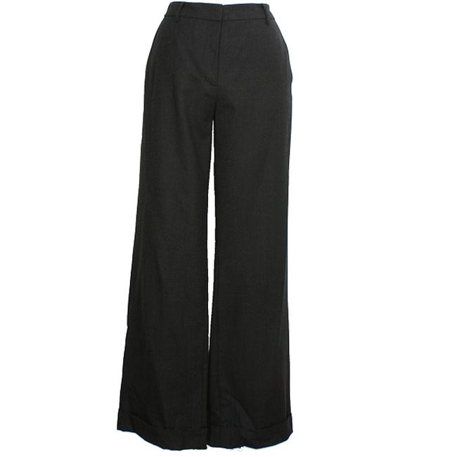 Item - Charcoal Gray Stretch Wool Flannel Melange Trouser Cuffed Pants Size 8 (M, 29, 30)