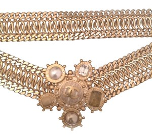 Chanel AUTHENTIC CHANEL CAMELLIA PEARL CRYSTAL BELT