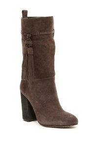 Vince Camuto Suede Leather Slouch Tassels Grey Boots