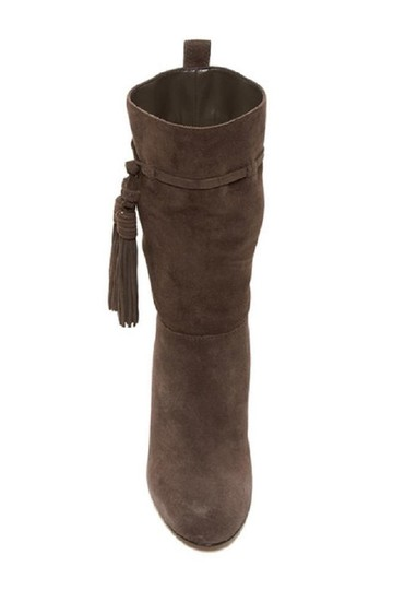 Vince Camuto Suede Leather Slouch Tassels Grey Boots Image 2