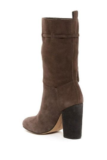 Vince Camuto Suede Leather Slouch Tassels Grey Boots Image 4