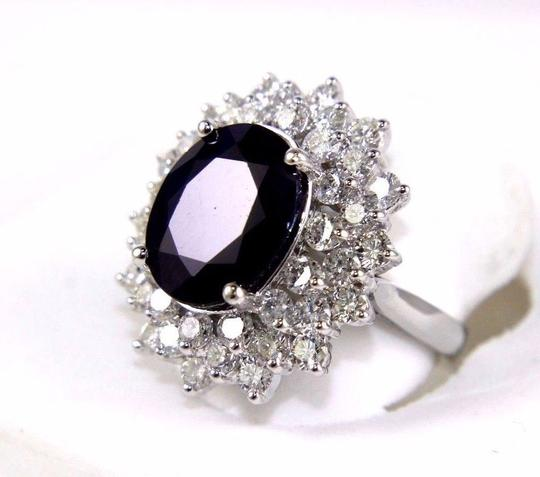 Other Oval Cut Blue Sapphire Cocktail Ring w/Diamond Halo 14k WG 9.88Ct Image 1