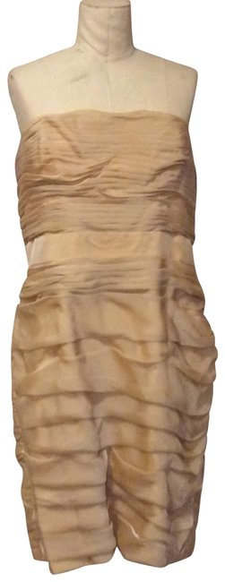 Item - Blush Strapless Rusched Mid-length Formal Dress Size 16 (XL, Plus 0x)
