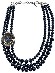 Chloe + Isabel Black multi-strand necklace with removable broach