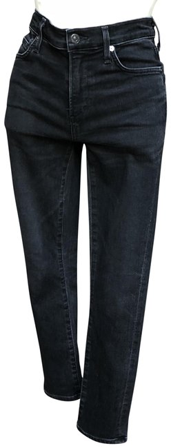 Item - Black Distressed Rocket Crop High Rise Skinny Jeans Size 25 (2, XS)