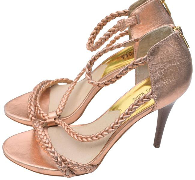 Item - Rose Pink Braided Leather Open Pumps Size US 8.5 Regular (M, B)