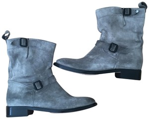 Belstaff Suede Leather Ankle Gray Boots