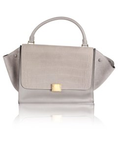 Céline Suede Tote in Gray