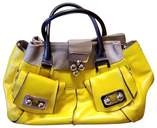 Item - Shoulder Very Nice 3 Compartments Good Condition. Please Look At Yellow/Brown Lambskin Leather Hobo Bag