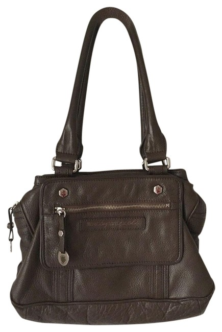 Item - W Handbag W/ Triple Compartment Brown Leather Tote