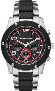 Michael Kors Michael Kors Men's Caine Stainless Steel and Silicone Watch MK8474