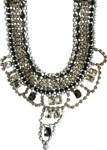 Juicy Couture Black and white statement necklace