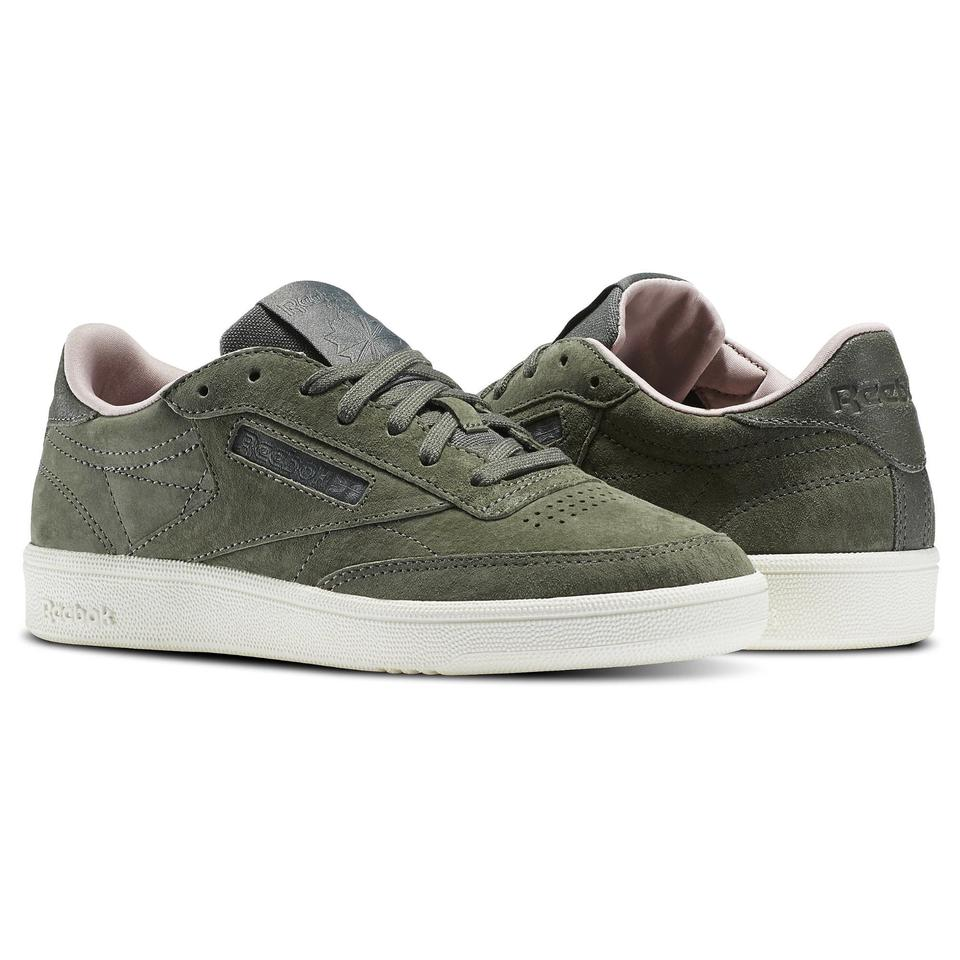 e942ad0476e5ee Reebok Olive Green Club C 85 Sneakers Size US 8.5 Regular (M