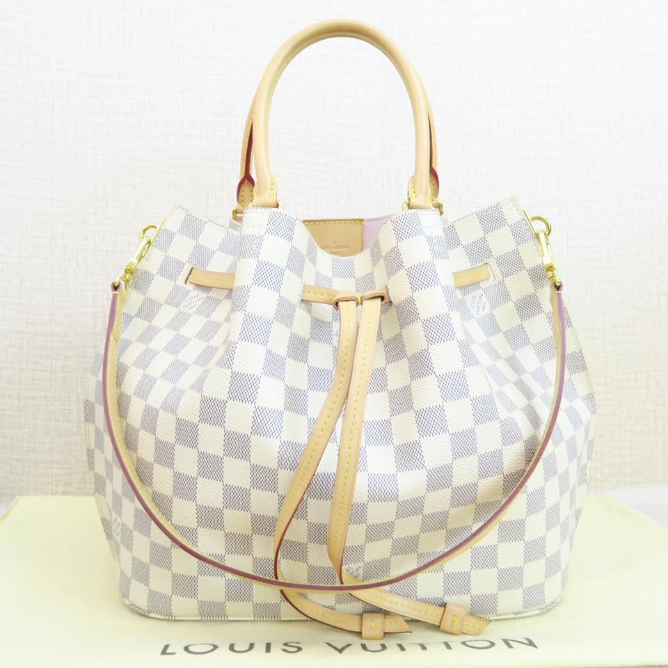 c312a789a182 Louis Vuitton Lv Girolata Canvas Damier Azur Shoulder Bag Image 11.  123456789101112