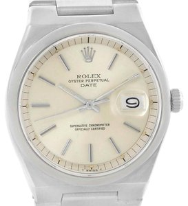 Rolex Rolex Oyster Perpetual Date Vintage Mens Stainless Steel Watch 1530