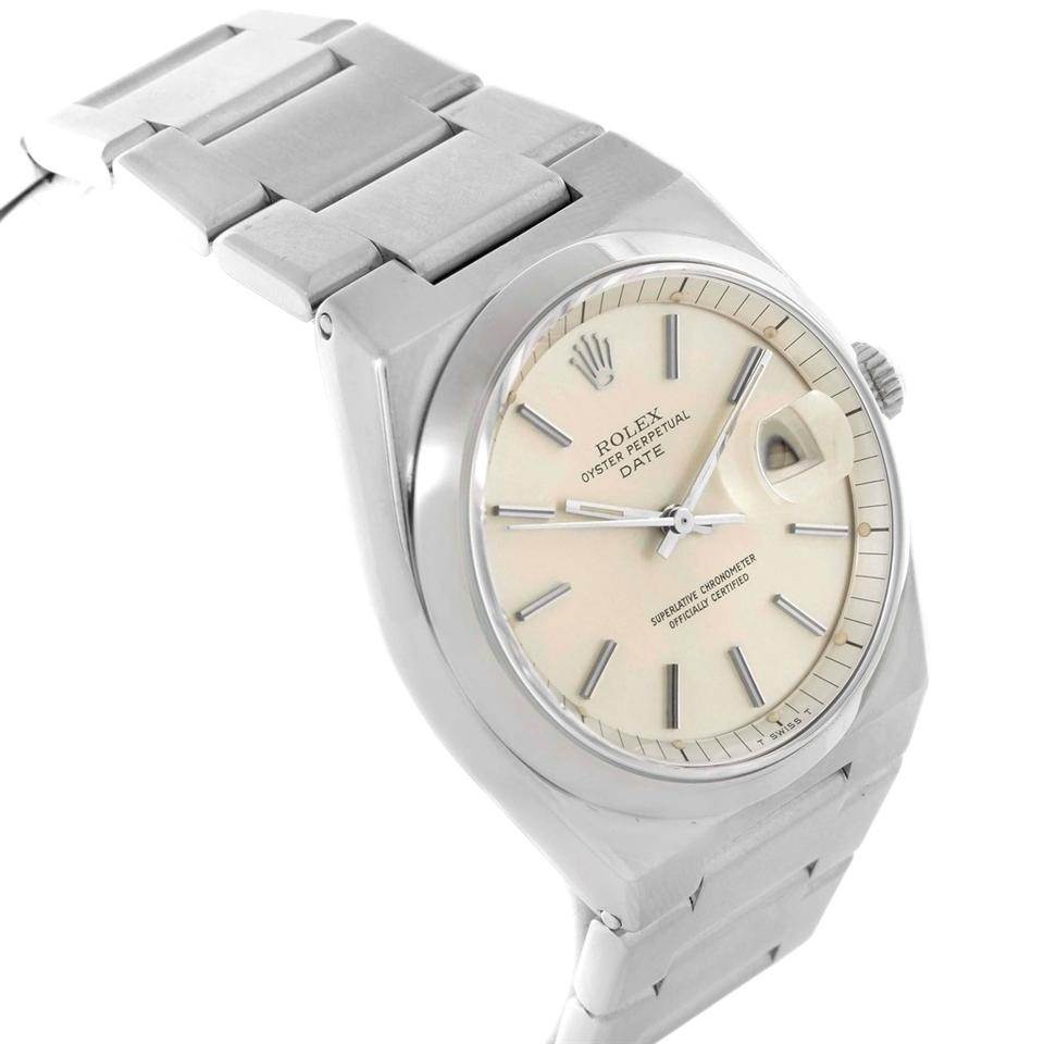 Rolex Silver Oyster Perpetual Date Vintage Mens Stainless Steel 1530 Watch