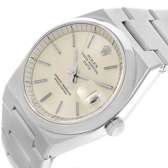 Rolex Rolex Oyster Perpetual Date Vintage Mens Stainless Steel Watch 1530 Image 4
