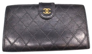 696590bd26f4 Chanel [1st Dibs] Quilted Lambskin Bifold Long Flap Wallet 230169 Black  Leather Clutch