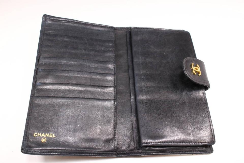 5a6e395f0d27 Chanel  1st Dibs  Quilted Lambskin Bifold Long Flap Wallet 230169 ...