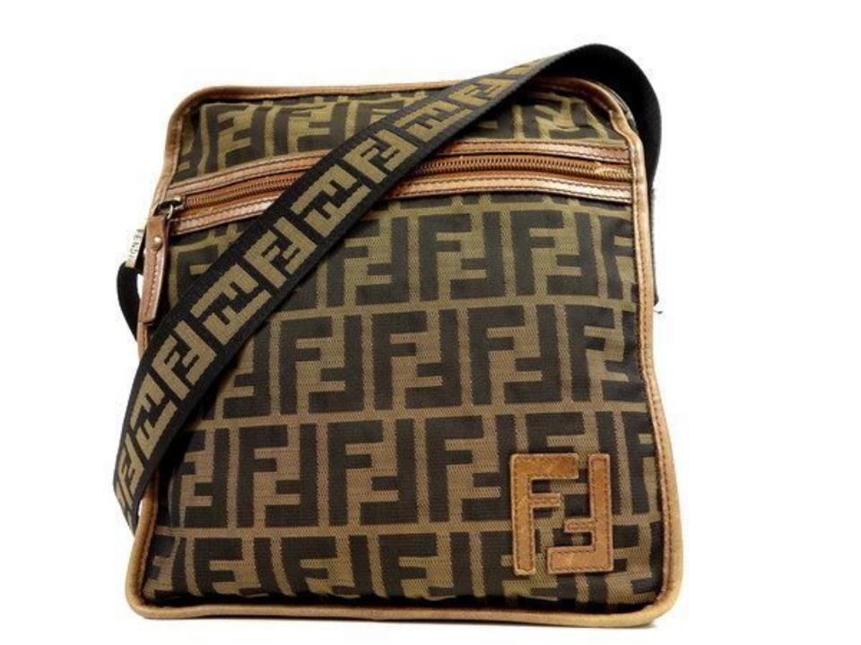 8c78be37e8 Fendi  ebay Sold  Zucca Monogram Monogram Ff Messenger 231326 Brown Canvas  Cross Body Bag