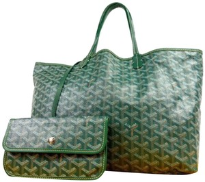 Goyard Goyardine Saint Louie Louis Neverfull Tote in Green
