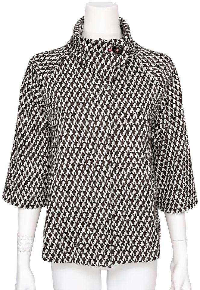7d988a7c2 Lilly Pulitzer Brown   White Houndstooth Knit 3 4 Sleeve Jacket Size ...
