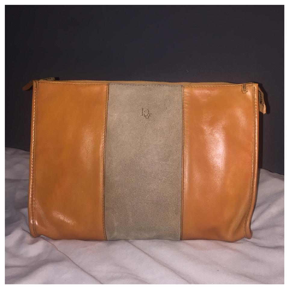 c31e4ab82ef1 Dior Authentic Vintage Christian Dior Brown Clutch Leather ...