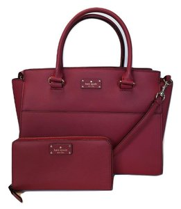 2589a4dc67c8 Kate Spade Wkru5323 Small Lana Grove Street Color Red Carpet Leather ...