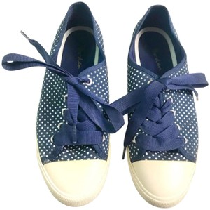 Boden Lace-up Navy Flats