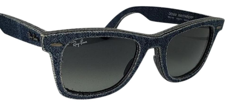 4a8a6f964a6 Ray-Ban Blue Unisex Wayfarer Plastic Frame with Gray Gradient Lens  Sunglasses