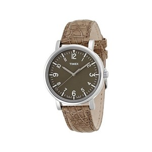 Timex T2P217 Men's Sand Leather Bracelet With Sand Analog Dial Watch NWT
