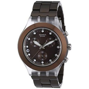 Swatch SVCK4042AG Unisex Brown Steel Bracelet With Brown Analog Dial Watch