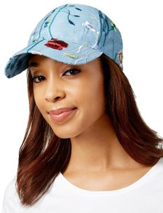 Steve Madden Blue Denim Embroidered Baseball Cap Hat