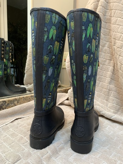 Tory Burch Rain Blue and green Boots