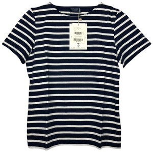 Saint James Nautical Soft Cotton Striped Sleeve T Shirt Navy Ecru