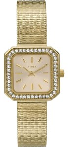 Timex T2P550 Classics Women's Gold Metal Band With Gold Analog Dial Watch