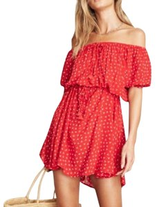 Faithfull the Brand short dress red on Tradesy