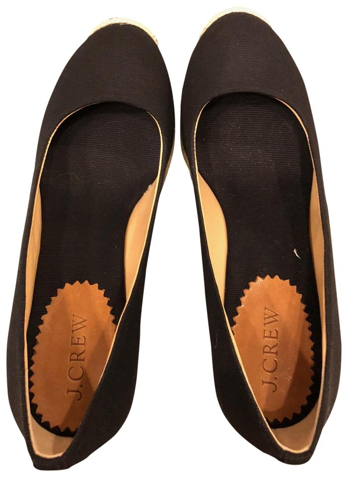 e46dff65889 J.Crew Black Seville Canvas Espadrilles Wedges Size US 6 Regular (M ...