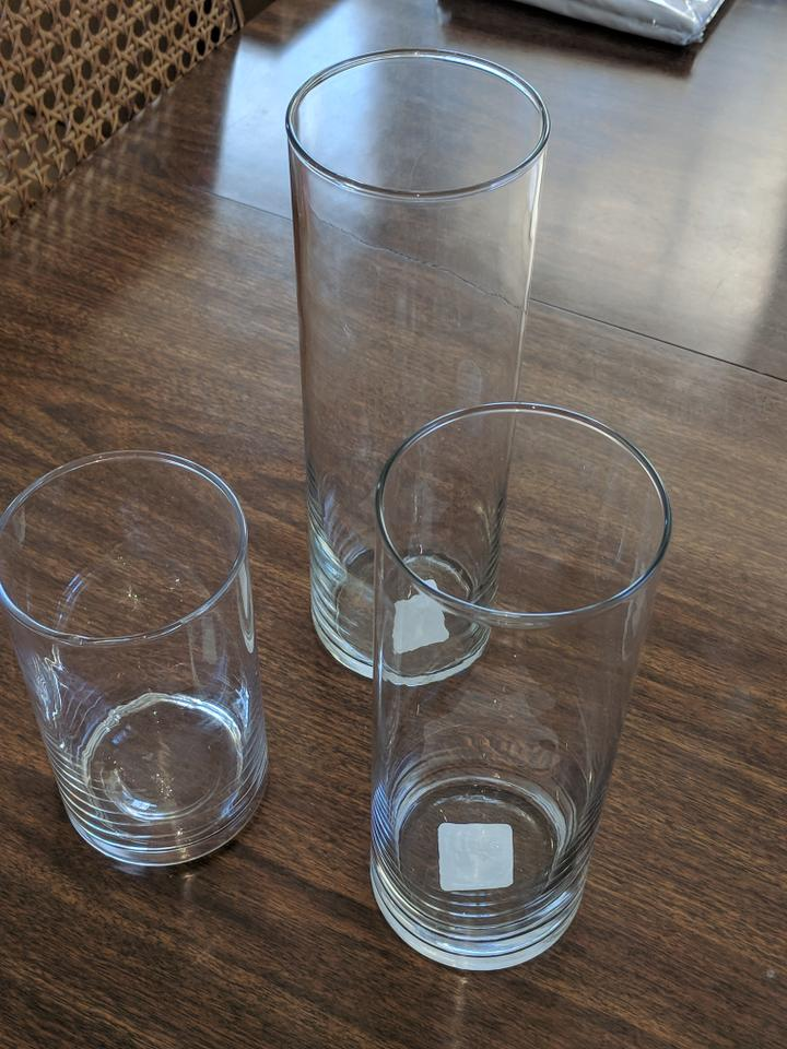 Clear Set Of 3 Cylinder Vases Centerpiece Tradesy