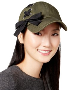 Steve Madden green Tongue Tied Baseball Cap Hat